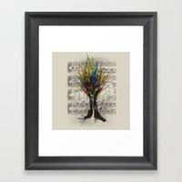 Ink Chords Framed Art Print