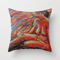 Hypatia on Fire Throw Pillow