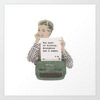 Virginia Woolf Quote Art Print