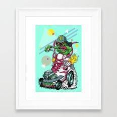 RIDE IT, KICK IT! Framed Art Print