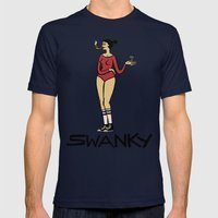 Swanky Mens Fitted Tee Navy SMALL