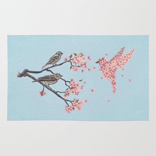 Blossom Bird  Area & Throw Rug