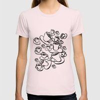 Coffee Womens Fitted Tee Light Pink SMALL