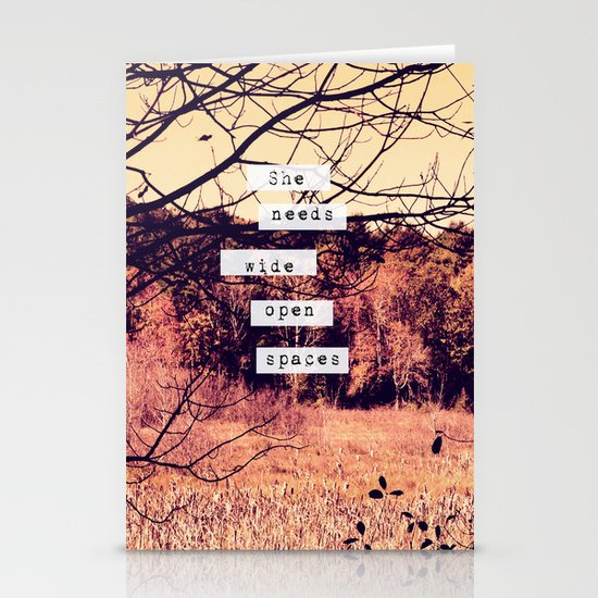 Wide Open Spaces II Stationery Card