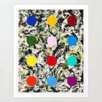 DAMIEN HIRSTED 7 Art Print