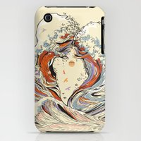 iPhone 3Gs & iPhone 3G Cases featuring The Wave of Love by Huebucket