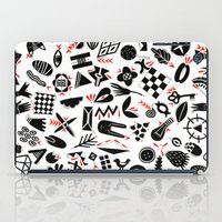 Black And White Pattern iPad Case