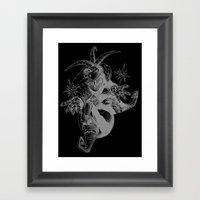 Sweet Monkey In Space Framed Art Print