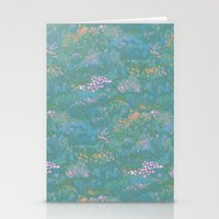 Blue Life in Death Valley Stationery Cards