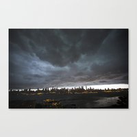 New York Before The Stor… Canvas Print
