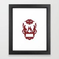 Bloodlust Skull Framed Art Print