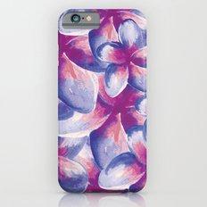 Purple Plumeria Floral Watercolor iPhone 6s Slim Case