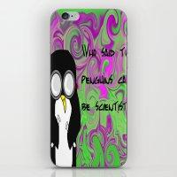 Scientist Penguin  iPhone & iPod Skin