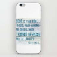 Home Of Love And Laughte… iPhone & iPod Skin
