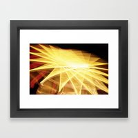 Filament Star Framed Art Print
