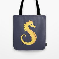 Letter S // Animal Alphabet // Seahorse Tote Bag