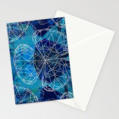 Diamonds Blue Stationery Cards