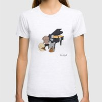 Bunny Trio Womens Fitted Tee Ash Grey SMALL