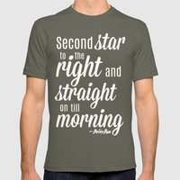 Peter Pan Quote Mens Fitted Tee Lieutenant SMALL