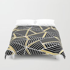 Ab Lines 2 Gold Duvet Cover