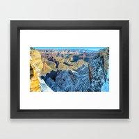 Winter Morning South Rim Panorama Framed Art Print