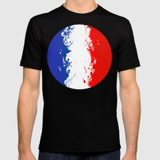 in to the sky, France  SMALL Black Mens Fitted Tee