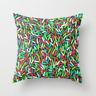 Throw Pillow featuring Encrusted With Sprinkles… by TotalBabyCakes