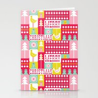 Festive Christmas Collag… Stationery Cards