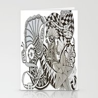 Zentangle I95 Stationery Cards