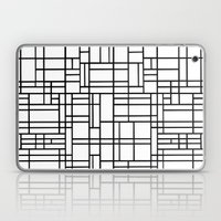 Map Outline Black on White  Laptop & iPad Skin