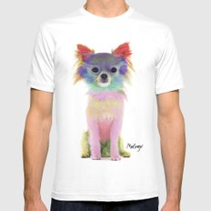 Colorful chihuahua SMALL Mens Fitted Tee White
