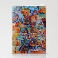 7 Jerusalem owls Stationery Cards