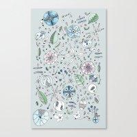 Globos en el jardín Watercolor Canvas Print