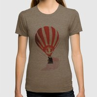 Let's fly away together Womens Fitted Tee Tri-Coffee SMALL