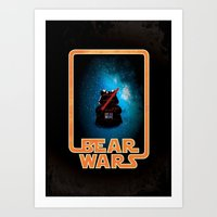 Bear Wars - Darth Teddy Art Print