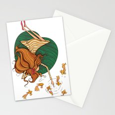 Girl and fish Stationery Cards