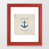 Sailor before Captain Framed Art Print