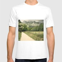 Anboto Mens Fitted Tee White SMALL