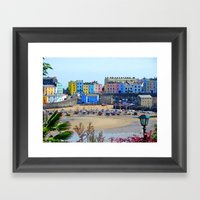 Tenby Harbour.Colour.Ref… Framed Art Print