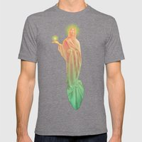 The Golden God Mens Fitted Tee Tri-Grey SMALL
