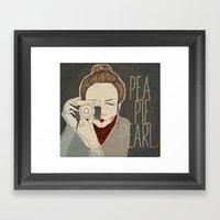Pea Pie Pearl Framed Art Print
