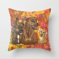 Dogs Bailey , Jake & Mag… Throw Pillow