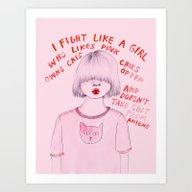 I Fight Like A Girl Art Print