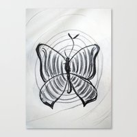 Canvas Print featuring Butterfly by One Pepinillo