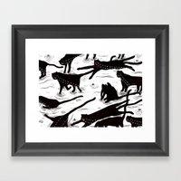 Ze Crying Katz Framed Art Print