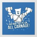 All Carnage! Canvas Print