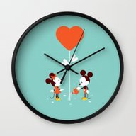 Minnie And Mickey Mouse Wall Clock