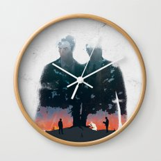True Detective - The Long Bright Dark Wall Clock