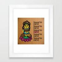 Indian goddess  Framed Art Print