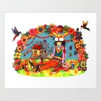 Hideaway Love Art Print